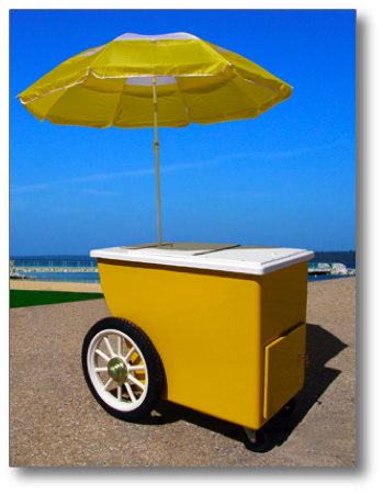 Beverage Cart Model Shown With Optional Antique Wheels